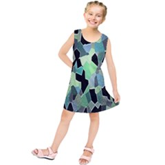 Wallpaper Background With Lighted Pattern Kids  Tunic Dress