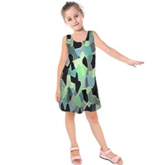 Wallpaper Background With Lighted Pattern Kids  Sleeveless Dress