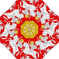 Lesser Coat of Arms of Georgia Hook Handle Umbrellas (Medium)