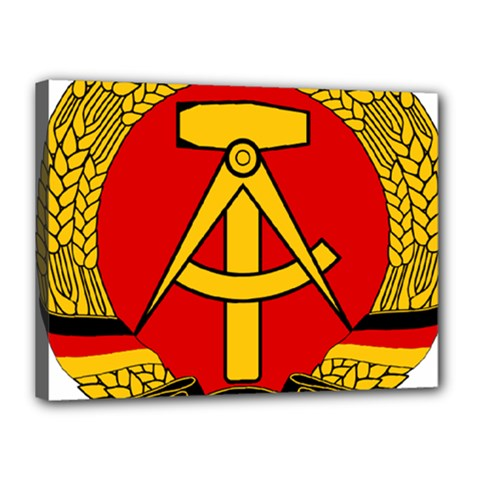 National Emblem of East Germany  Canvas 16  x 12
