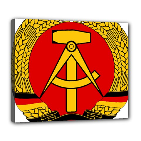 National Emblem of East Germany  Deluxe Canvas 24  x 20