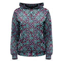 Stylized Texture Luxury Ornate Women s Pullover Hoodie