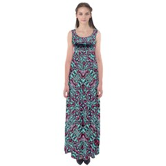 Stylized Texture Luxury Ornate Empire Waist Maxi Dress