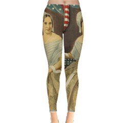 Betsy Ross Author of The First American Flag and Seal Patriotic USA Vintage Portrait Leggings
