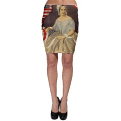 Betsy Ross Author of The First American Flag and Seal Patriotic USA Vintage Portrait Bodycon Skirt