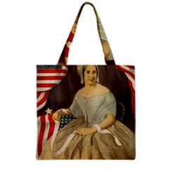 Betsy Ross Author of The First American Flag and Seal Patriotic USA Vintage Portrait Grocery Tote Bag
