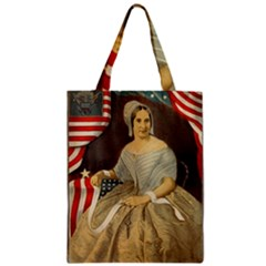 Betsy Ross Author of The First American Flag and Seal Patriotic USA Vintage Portrait Classic Tote Bag