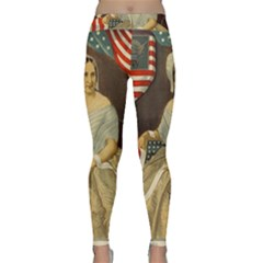 Betsy Ross Author of The First American Flag and Seal Patriotic USA Vintage Portrait Classic Yoga Leggings