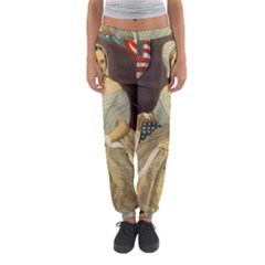 Betsy Ross Author of The First American Flag and Seal Patriotic USA Vintage Portrait Women s Jogger Sweatpants