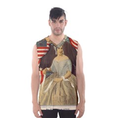Betsy Ross Author of The First American Flag and Seal Patriotic USA Vintage Portrait Men s Basketball Tank Top