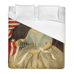 Betsy Ross Author of The First American Flag and Seal Patriotic USA Vintage Portrait Duvet Cover (Full/ Double Size)