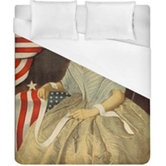 Betsy Ross Author of The First American Flag and Seal Patriotic USA Vintage Portrait Duvet Cover (California King Size)