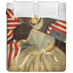 Betsy Ross Author of The First American Flag and Seal Patriotic USA Vintage Portrait Duvet Cover Double Side (California King Size)
