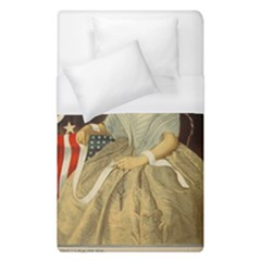Betsy Ross Author of The First American Flag and Seal Patriotic USA Vintage Portrait Duvet Cover (Single Size)