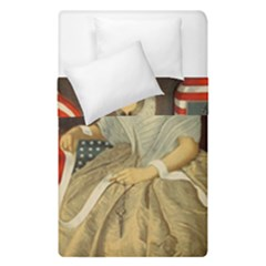 Betsy Ross Author of The First American Flag and Seal Patriotic USA Vintage Portrait Duvet Cover Double Side (Single Size)