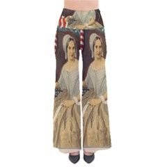 Betsy Ross Author of The First American Flag and Seal Patriotic USA Vintage Portrait Pants