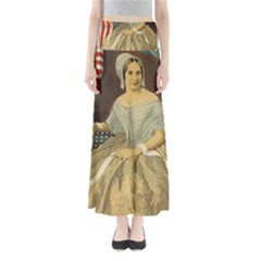 Betsy Ross Author of The First American Flag and Seal Patriotic USA Vintage Portrait Maxi Skirts