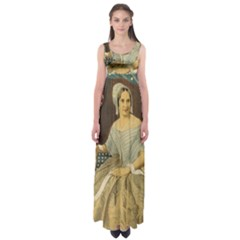 Betsy Ross Author of The First American Flag and Seal Patriotic USA Vintage Portrait Empire Waist Maxi Dress
