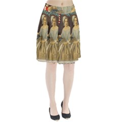 Betsy Ross Author of The First American Flag and Seal Patriotic USA Vintage Portrait Pleated Skirt