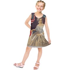 Betsy Ross Author of The First American Flag and Seal Patriotic USA Vintage Portrait Kids  Tunic Dress