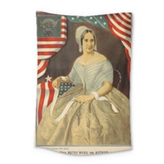 Betsy Ross Author Of The First American Flag And Seal Patriotic Usa Vintage Portrait Small Tapestry
