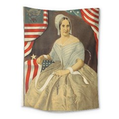 Betsy Ross Author of The First American Flag and Seal Patriotic USA Vintage Portrait Medium Tapestry