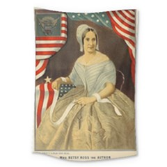 Betsy Ross Author of The First American Flag and Seal Patriotic USA Vintage Portrait Large Tapestry