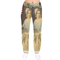 Betsy Ross Author of The First American Flag and Seal Patriotic USA Vintage Portrait Drawstring Pants