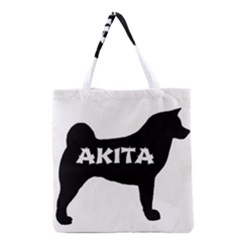 Akita Name Silo Grocery Tote Bag