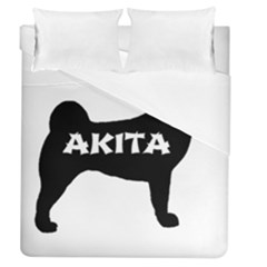 Akita Name Silo Duvet Cover (Queen Size)
