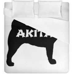 Akita Name Silo Duvet Cover (King Size)