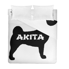 Akita Name Silo Duvet Cover Double Side (Full/ Double Size)