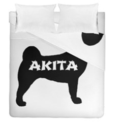 Akita Name Silo Duvet Cover Double Side (Queen Size)