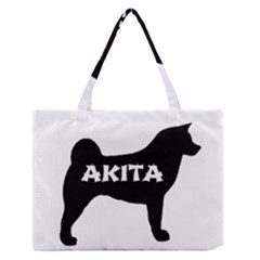 Akita Name Silo Medium Zipper Tote Bag