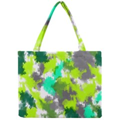 Abstract Watercolor Background Wallpaper Of Watercolor Splashes Green Hues Mini Tote Bag
