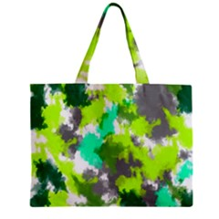 Abstract Watercolor Background Wallpaper Of Watercolor Splashes Green Hues Zipper Mini Tote Bag
