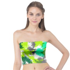 Abstract Watercolor Background Wallpaper Of Watercolor Splashes Green Hues Tube Top