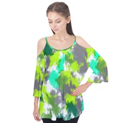 Abstract Watercolor Background Wallpaper Of Watercolor Splashes Green Hues Flutter Tees