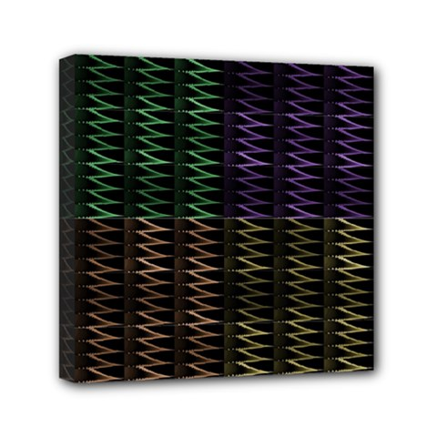 Multicolor Pattern Digital Computer Graphic Mini Canvas 6  x 6