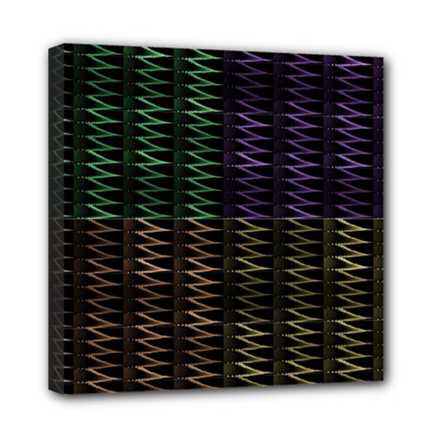 Multicolor Pattern Digital Computer Graphic Mini Canvas 8  x 8