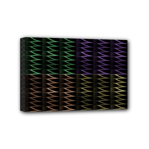 Multicolor Pattern Digital Computer Graphic Mini Canvas 6  x 4