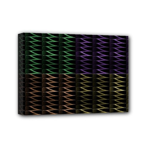Multicolor Pattern Digital Computer Graphic Mini Canvas 7  X 5