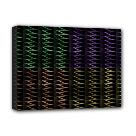 Multicolor Pattern Digital Computer Graphic Deluxe Canvas 16  x 12