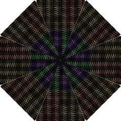 Multicolor Pattern Digital Computer Graphic Hook Handle Umbrellas (small)