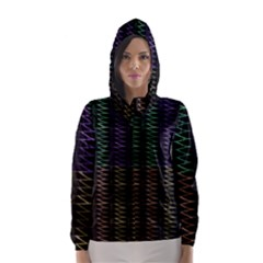 Multicolor Pattern Digital Computer Graphic Hooded Wind Breaker (women)
