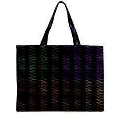 Multicolor Pattern Digital Computer Graphic Zipper Mini Tote Bag