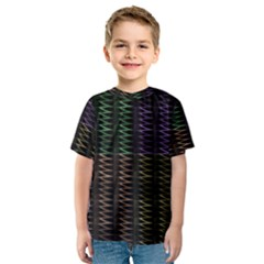 Multicolor Pattern Digital Computer Graphic Kids  Sport Mesh Tee