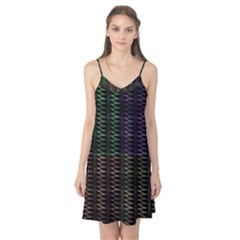 Multicolor Pattern Digital Computer Graphic Camis Nightgown