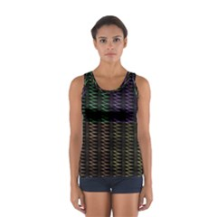 Multicolor Pattern Digital Computer Graphic Women s Sport Tank Top