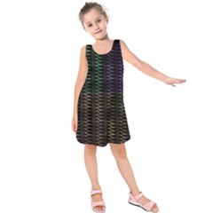 Multicolor Pattern Digital Computer Graphic Kids  Sleeveless Dress
